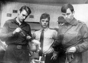 1966 ca. Blome und Balte beim Barras