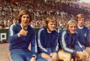 1972/73 VfL Ersatzbank mit Bradler, Gerland, Bomm und Dewinski