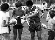 1982/83 Dieter Bast im Polsterwelt Trikot
