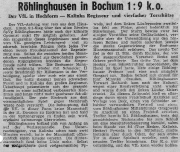 1949/50 - 2.Liga West 2 - VfL Bochum - SpVgg Röhlinghausen 9-1