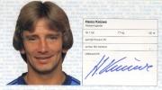 1982/83 Scheckheft Heinz Knüwe
