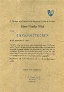 1985 Ernennung zum Ehrenmitglied Ottokar Wüst