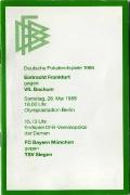 1988 Broschüre/Zeitplan zum Pokalendspiel VfL-SGE