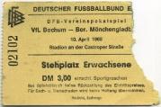 1967-68 Ticket Mönchengladbach Pokal