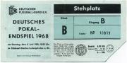 1967-68 Ticket 1.FC Köln Pokalfinale